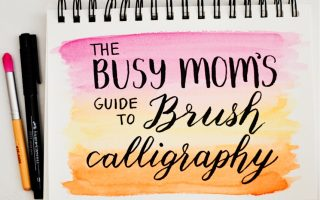 brush lettering easy how to mom fast quick alphabet pens