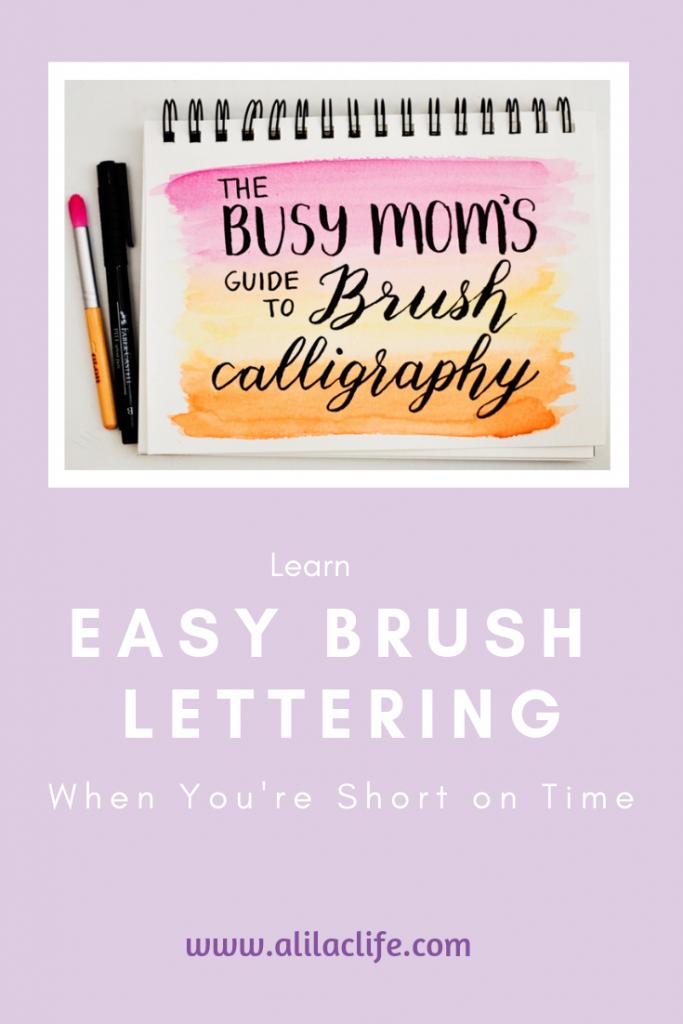 easy brush lettering alphabet pens video