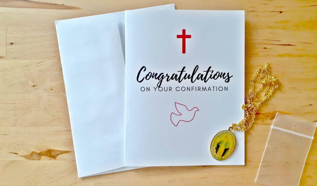 confirmation congratulations card