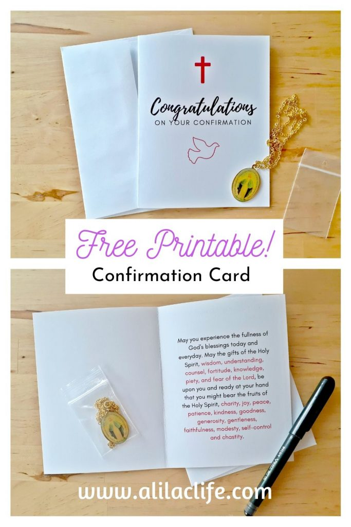 Free Printable Confirmation Card