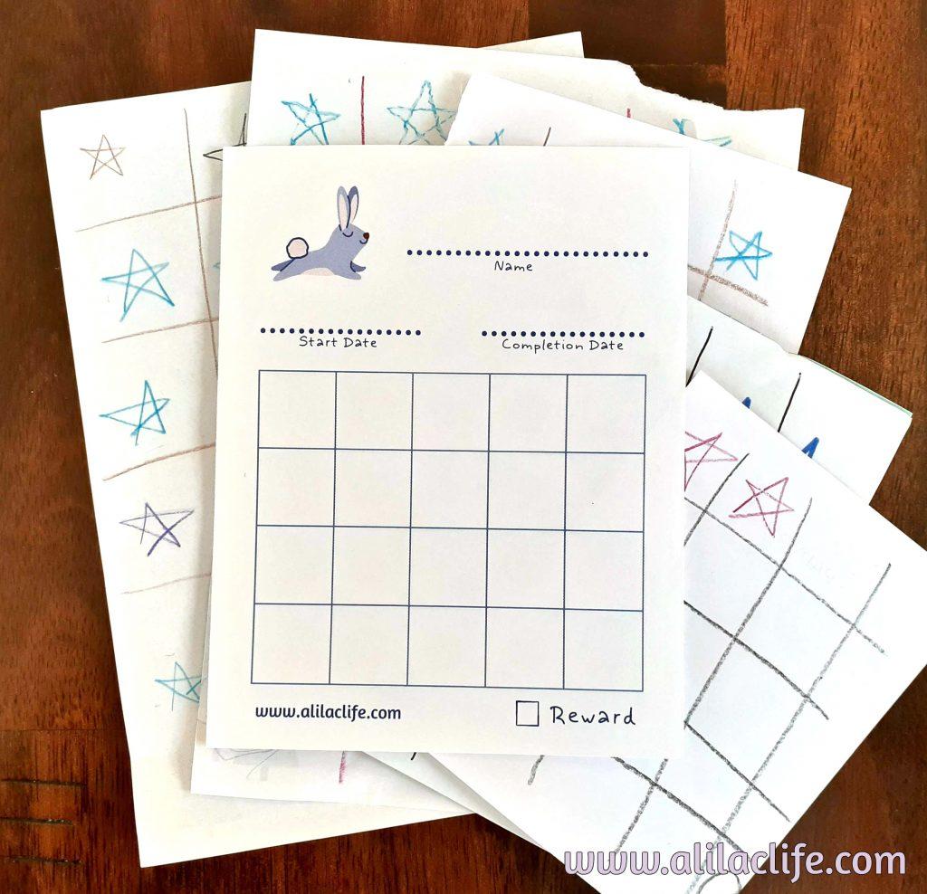 Bunny star tracker sheet