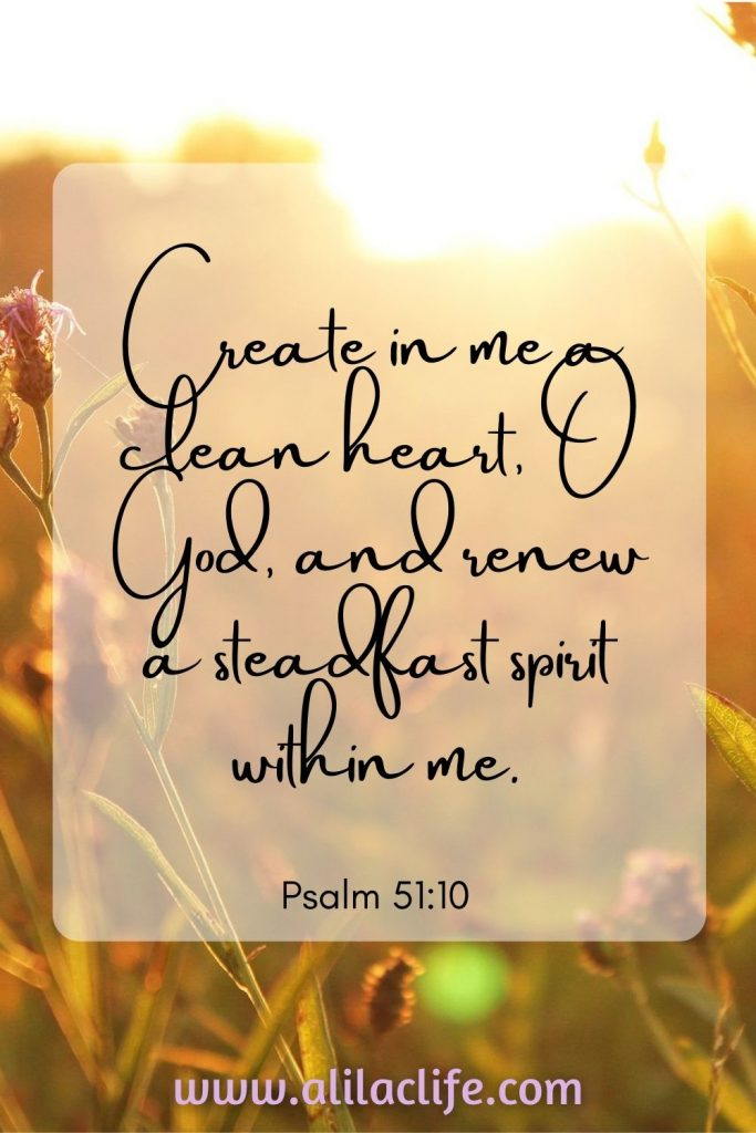 Psalm 51:10 bible verse about renewing spirit conversion finding God