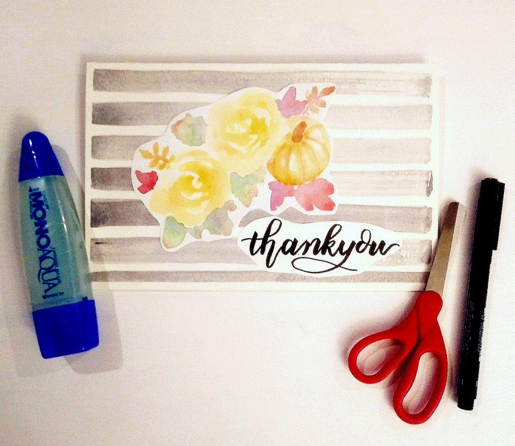 easy fall watercolor floral