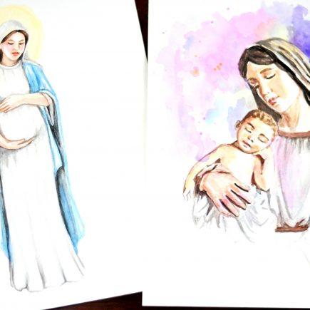 Mary Watercolor Art
