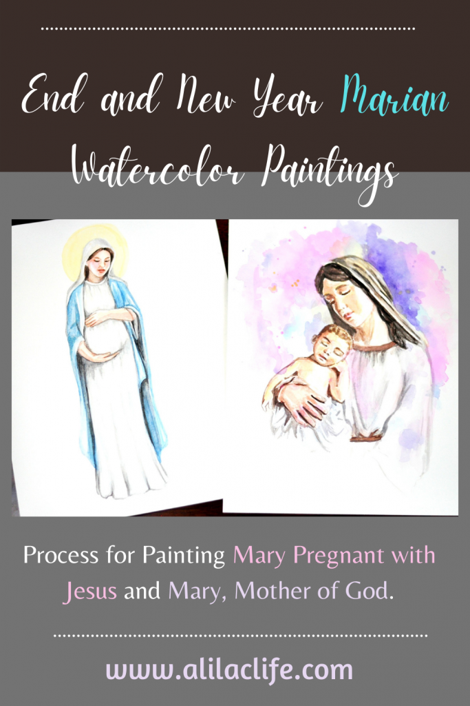 Mary Watercolor paintings