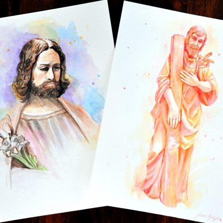 Year of Saint Joseph Watercolor Art