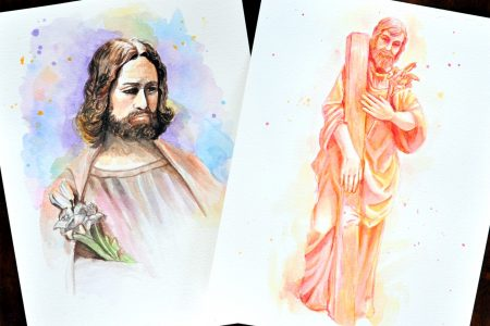 Year of Saint Joseph Watercolor Art