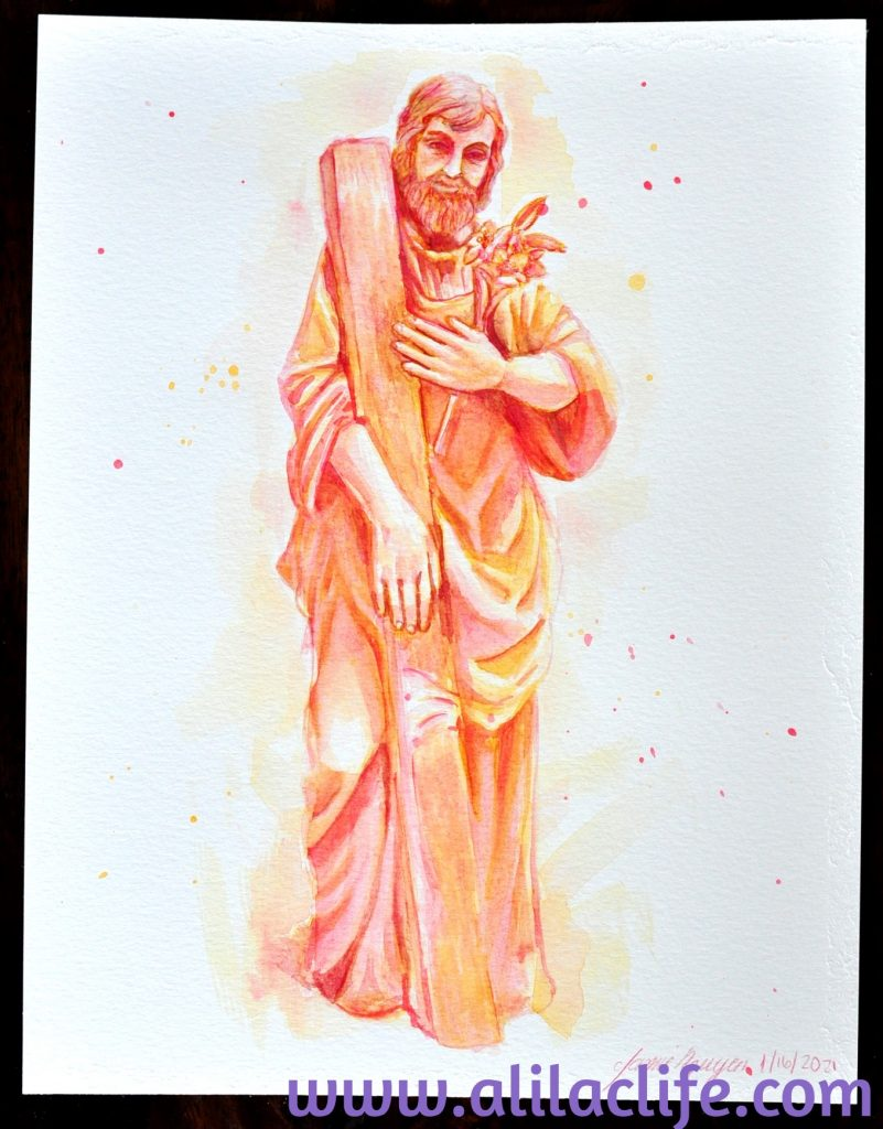 Year of Saint Joseph Watercolors St Joseph Worker Art