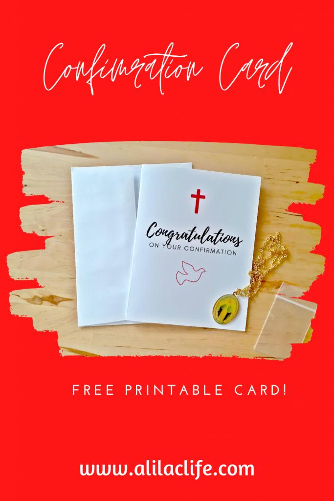 Free confirmation card congratulations