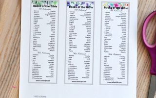 Catholic Books of the Bible Bookmark Free Printable
